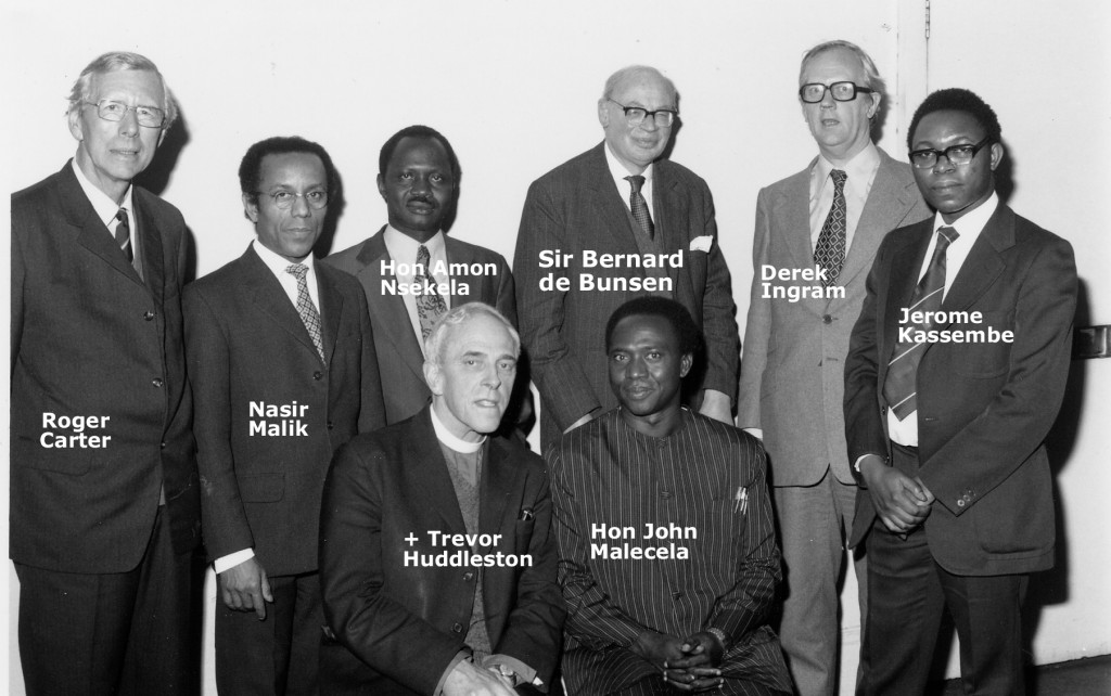Founders of the Britain-Tanzania Society, 1975