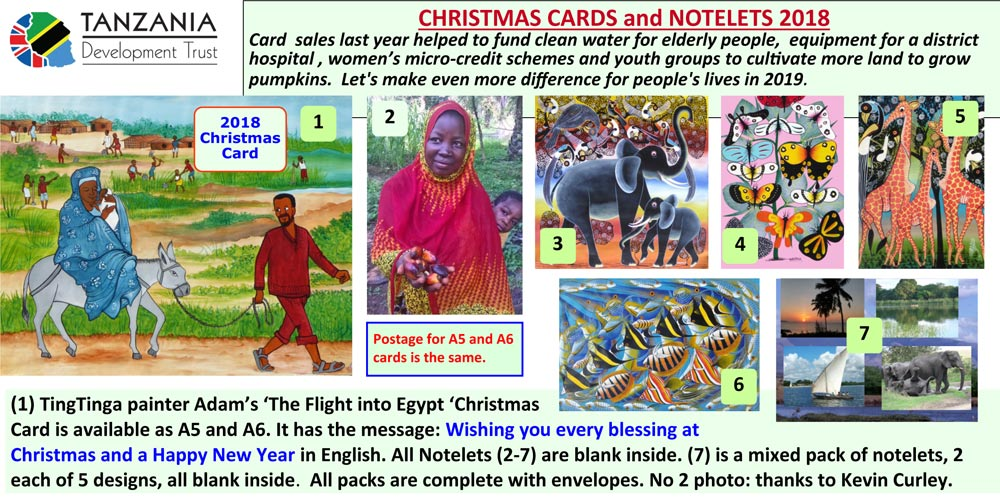 TDT 2018 Christmas card and notelets
