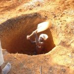 digging well at basanza dispensary tanzania