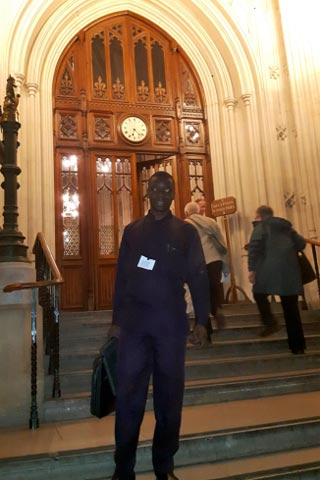TDT Kigoma representative Benedicto Hosea visits UK Houses of Parliament October 2018