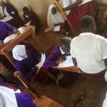 cramped classroom conditions, Tunamkumbuka Secondary School