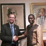 Benedicto Hosea with Geology for Global Development conference organiser Joel Gill