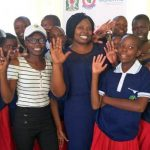 Rhobi with girls being protected by Hope for Girls and Women
