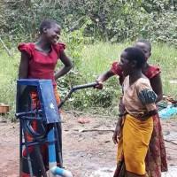 Girls enjoying pump