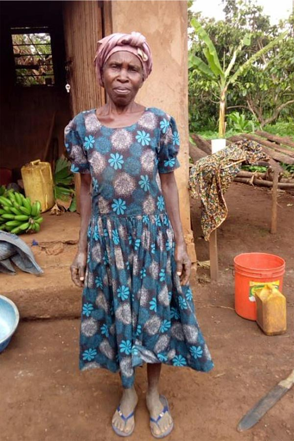 Mrs Rehina Ihembe II village, beneficiary of TDT water tank project