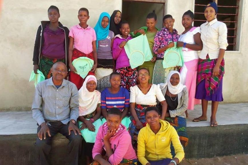 Trainees and teachers after completing sewing course organised by NODIP
