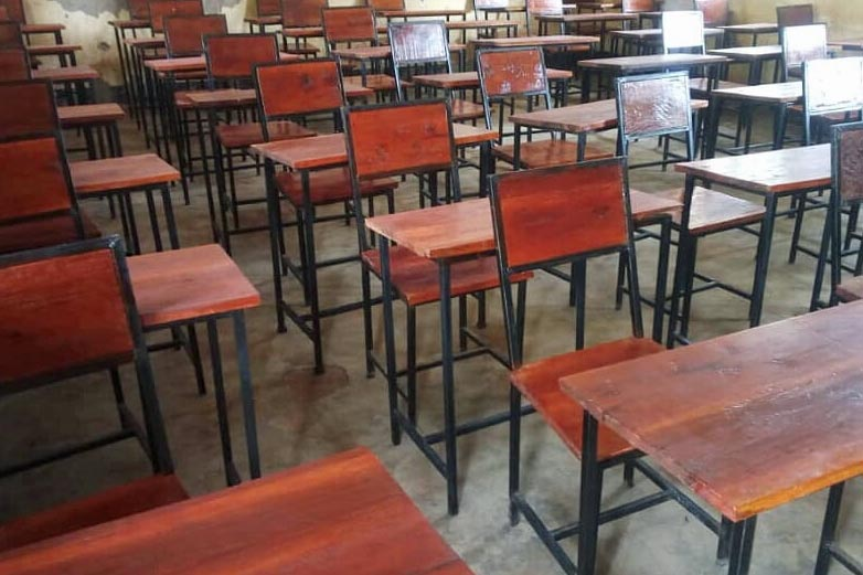 desks and chairs funded by TDT at Tunankumbuka Secondary School
